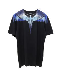MARCELO BURLON BLUE WINGS T-SHIRT / 1088 : BLACK MULTI