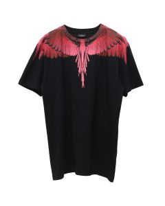 MARCELO BURLON FUCSIA WINGS T-SHIRT / 1088 : BLACK MULTI