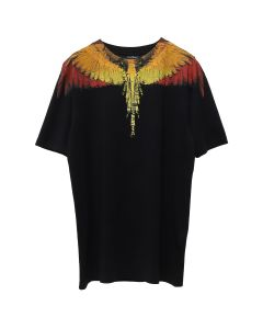 MARCELO BURLON GLITCH WINGS T-SHIRT / 1088 : BLACK MULTI