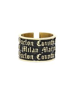 MARCELO BURLON COUNTY OF MILAN GOTHIC RING  / 9393 : GOLD GOLD