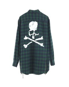MASTERMIND WORLD CHECK SHIRT 1 / GREEN