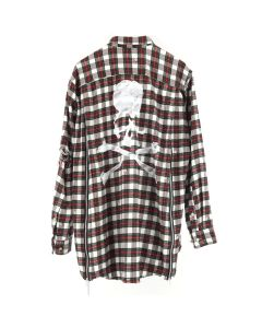 MASTERMIND WORLD CHECK SHIRT 1 / WHITE