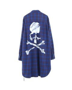 MASTERMIND WORLD CHECK SHIRT 3 / NAVY