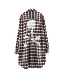 MASTERMIND WORLD CHECK SHIRT 3 / WHITE