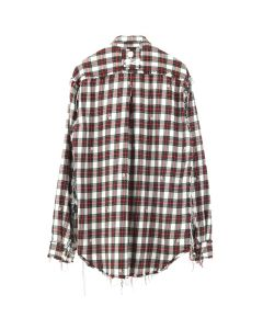 MASTERMIND WORLD CHECK SHIRT 5 / WHITE