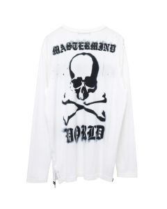 MASTERMIND WORLD L/S T-SHIRT 020 / WHITE