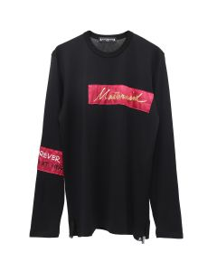 MASTERMIND WORLD L/S T-SHIRT 028 / BLACK-RED