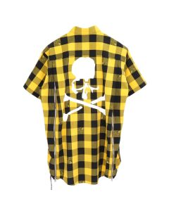 MASTERMIND JAPAN S/S SHIRT 19 / YELLOW-BLACK (WHITE)