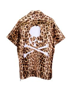 MASTERMIND WORLD S/S SHIRT 016 / LEOPARD (WHITE)