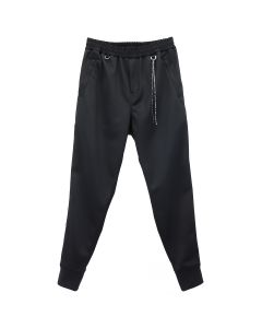 MASTERMIND JAPAN PANTS 033 / 001 : BLACK (WHITE TAPE)