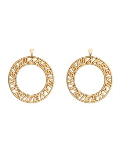MISBHV LOGO CIRCLE EARRINGS / GOLD