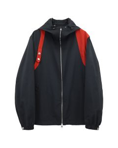 ALEXANDER McQUEEN HARNESS WINDBREAKER SOFT POLY / BLACK