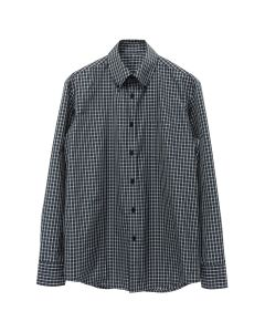 Martine Rose BACK WRAPPED SHIRT / DARK GRN CHECK