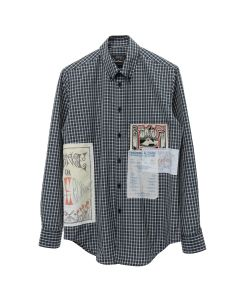 Martine Rose FLYER SHIRT / GREEN CHECK