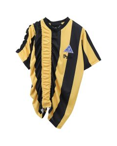 Martine Rose RUCHED FOOTBALL TOP / YELLOW-BLACK