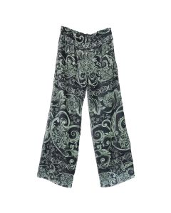 Martine Rose PLEATED PRINT TROUSERS / BARCODE GREEN