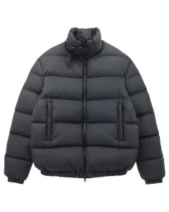 1017 ALYX 9SM PUFFER COAT W/NYLON BUCKLE / BLK0001 : BLACK