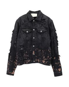 1017 ALYX 9SM RIPPED DENIM JKT / BLK0001 : BLACK
