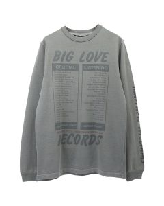 1017 ALYX 9SM LS TEE BIG LOVE RECORDS / GRY0003 : DARK GREY