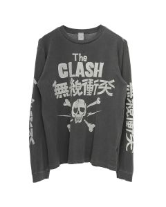 MadeWorn THE CLASH LONG SLEEVE / BLACK PIGMENT
