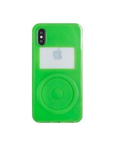 nana-nana NOT A MUSIC PLAYER iPhone CASE / NEON GREEN