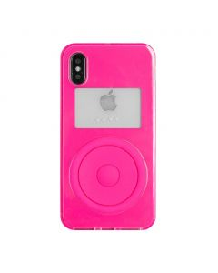 nana-nana NOT A MUSIC PLAYER iPhone CASE / NEON PINK