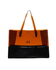 nana-nana PVC x OPAQUE A3 BAG / BROWN-BLACK