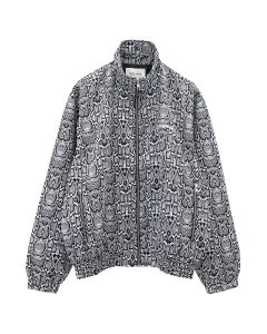 Noon Goons SNAKESKIN TRACK JACKET / BLACK-WHITE