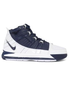 NIKE ZOOM LEBRON III QS / 103 : WHITE/MIDNIGHT NAVY