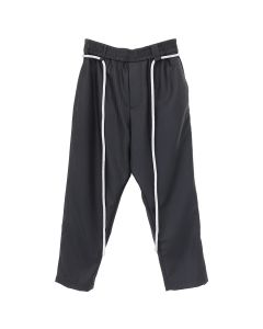 Necessity Sense MICH DRAWCORD CROPPED TROUSER / DRY ONYX MUTED STRIPE