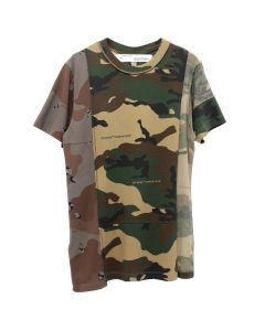 OFF-WHITE c/o Virgil Abloh MENS RECONSTRUCTURED CAMO T-SHIRT / 9901 : ALL OVER WHT
