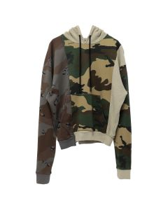 OFF-WHITE c/o Virgil Abloh MENS RECONSTRUCTURED CAMO HOODIE / 9901 : ALL OVER WHT