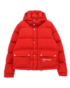 OFF-WHITE c/o Virgil Abloh MENS QUOTE PUFFER / 2001 : RED WHITE