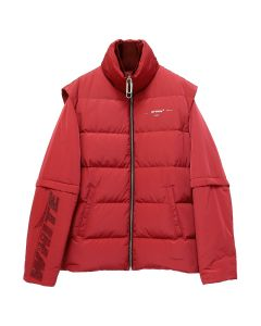 OFF-WHITE c/o Virgil Abloh MENS DETACHABLE PUFFER / 2020 : RED RED