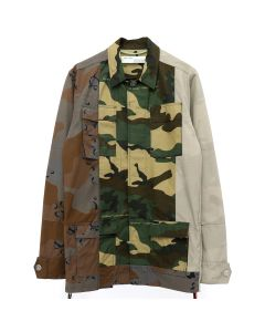 OFF-WHITE c/o Virgil Abloh MENS RECONSTR CAMO FIELD JACKET / ALL OVER WHT