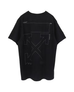 OFF-WHITE c/o Virgil Abloh MENS UNFINISHED S/S OVER TEE / 1091 : BLACK SILVER