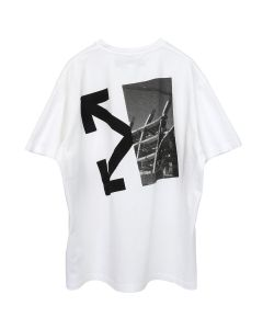 OFF-WHITE c/o Virgil Abloh MENS SPLITTED ARROWS S/S OVER TEE / 0110 : WHITE BLACK
