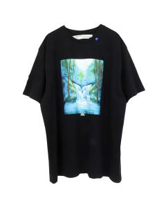 OFF-WHITE c/o Virgil Abloh MENS WATERFALL S/S OVER TEE / 1088 : BLK MULTICOLOR