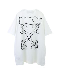 OFF-WHITE c/o Virgil Abloh MENS ABSTRACT ARROWS S/S OVER TEE / 0110 : WHITE BLACK