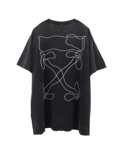 OFF-WHITE c/o Virgil Abloh MENS ABSTRACT ARROWS S/S OVER TEE / 1001 : BLACK WHITE