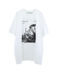 OFF-WHITE c/o Virgil Abloh MENS RUINED FACTORY S/S OVER TEE / 0110 : WHITE BLACK
