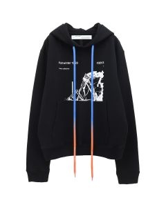OFF-WHITE c/o Virgil Abloh MENS RUINED FACTORY SLIM HOODIE / 1001 : BLACK WHITE
