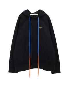 OFF-WHITE c/o Virgil Abloh MENS ACRYLIC ARROWS INCOMP HOODIE / 1060 : BLACK YELLOW