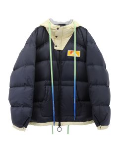OFF-WHITE c/o Virgil Abloh MENS SCAFFOLDING ZIPPED PUFFER / 3201 : DARK BLUE WHITE
