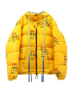 OFF-WHITE c/o Virgil Abloh MENS INDUSTRIAL ZIPPED PUFFER / 6000 : YELLOW NO COLOR