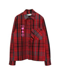 OFF-WHITE c/o Virgil Abloh MENS MARIANA DE SILVA SHIRT / 2088 : RED MULTICOLOR