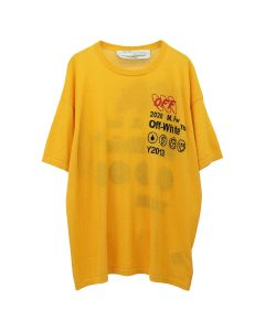 OFF-WHITE c/o Virgil Abloh MENS INDUSTRIAL Y013 KNIT TEE / 6010 : YELLOW BLACK