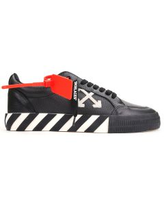 OFF-WHITE c/o Virgil Abloh MENS LOW VULCANIZED / 1001 : BLACK WHITE