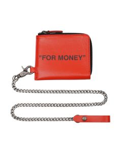 OFF-WHITE c/o Virgil Abloh MENS QUOTE CHAIN WALLET / 1910 : ORANGE BLACK