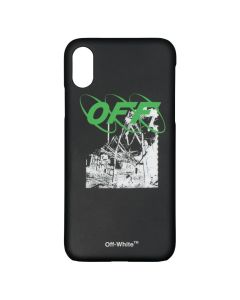 OFF-WHITE c/o Virgil Abloh MENS RUINED FACTORY IPHONE X COVER / 1001 : BLACK WHITE